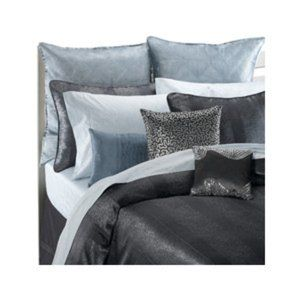 Badgley Mischka Charcoal Gray Silver Duvet Cover